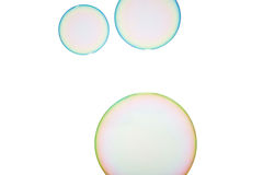 Soap bubbles. Group of soap bubbles on a white background Stock Photo