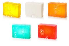 Soap with bubbles. Handmade. Set #2| Isolated Stock Images