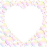 Soap Bubbles Heart Frame Love Stock Image