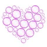 Soap bubbles heart Stock Image