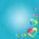 Soap bubbles in heart shape. Illustration of soap bubbles frame Royalty Free Stock Photo