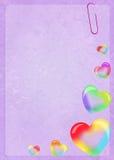 Soap bubbles in heart shape Stock Photos