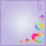 Soap bubbles in heart shape. Illustration of soap bubbles frame Stock Photos