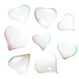 Soap bubbles heart shaped Stock Images