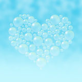 Soap bubbles heart Stock Photo