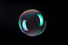 Soap bubbles isolated Stock Photo