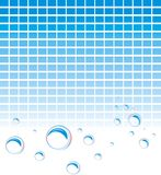 Soap bubbles on the mosaic background Royalty Free Stock Images