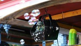Soap bubbles stock footage