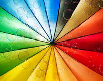 Soap bubbles and multi-coloured background Royalty Free Stock Photo