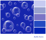Soap bubbles palette Royalty Free Stock Photo
