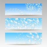 Soap bubbles on paper Stock Images