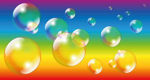 Soap Bubbles Rainbow Colors Stock Images