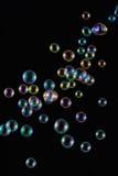 Soap Bubbles with Rainbow Reflection stock photo