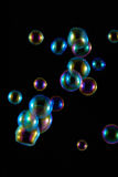 Soap Bubbles with Rainbow Reflection Royalty Free Stock Photography