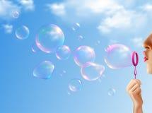 Soap Bubbles Realistic Background vector illustration