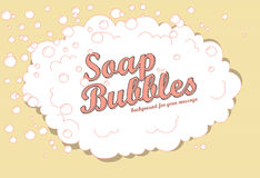 Soap bubbles. Retro soap bubble background with space for your message vector illustration