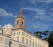 Soap bubbles in Rome stock photography
