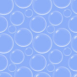 Soap bubbles seamless background. Flying soap bubbles background Stock Images