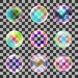 Soap bubbles set Stock Photo