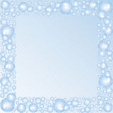 Soap bubbles square frame. stock photography