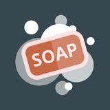 Soap with bubbles vector illustartion Royalty Free Stock Photo