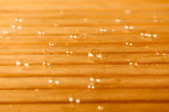 Soap bubbles on wooden background Stock Photography