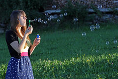 Soap bubbles Stock Photo
