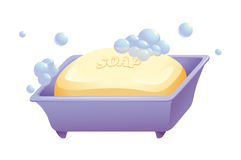 Soap and case Royalty Free Stock Image