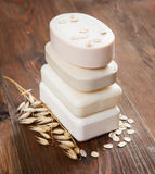 Soap cereal and oats Royalty Free Stock Photography