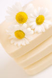 Soap with chamomile royalty free stock photo