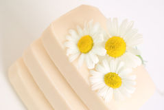 Soap  with chamomile Royalty Free Stock Images