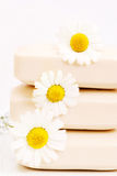 Soap with chamomile royalty free stock photography