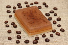 Soap with coffee Stock Photos