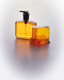 Soap container and bar soap Stock Photography