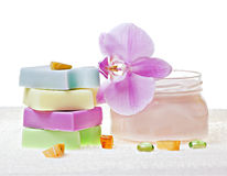 Soap and cream Royalty Free Stock Images