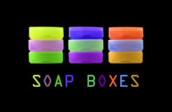 Soap dishes Royalty Free Stock Images