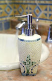 Soap dispenser upper view Stock Photography