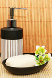 Soap dispensers and bar Royalty Free Stock Images