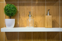Soap dispensers stock images