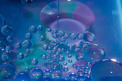 Soap drops, stains, oil Stock Images