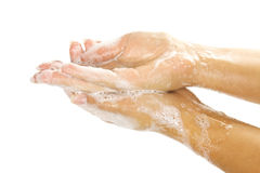 Soap female hands Royalty Free Stock Photography