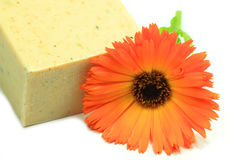 Soap and flower Stock Photography