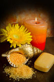 Soap and flower Royalty Free Stock Images
