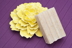 Soap and Flower Spa Concept Royalty Free Stock Photography
