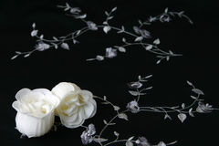 Soap Flowers. White flowers made from soap on a dark background Royalty Free Stock Photo