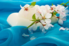 Soap and flowers Stock Photography