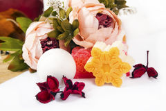 Free Soap, Flowers And Bath Bomb Stock Photography - 85817612