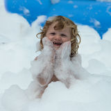 Soap foam party Royalty Free Stock Images