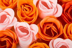 Soap foam roses background Stock Photo