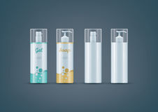 Soap / Gel bottles mock-up set Royalty Free Stock Photos